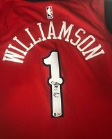 New Orleans Pelicans ZION WILLIAMSON Signed Nike Swingman Jersey BECKETT A73807