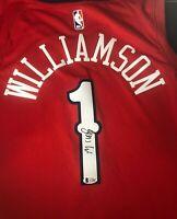 New Orleans Pelicans ZION WILLIAMSON Signed Nike Swingman Jersey BECKETT A73807
