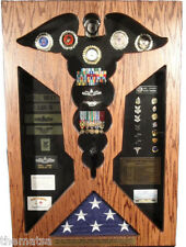 CADUCEUS MILITARY BADGE PIN PATCH FLAG  CHALLENGE COIN DISPLAY CASE SHADOW BOX