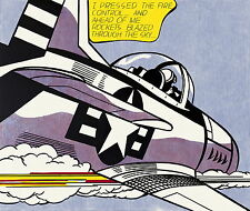 Roy Lichtenstein Whaam!Large Canvas 24' print vintage