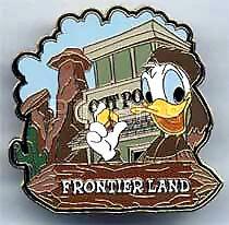 Disney Magic Kingdom Frontierland Donald Duck Pin