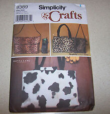SIMPLICITY  FASHION TRIMS HANDBAGS  PATTERN 9389