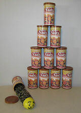 10 SNAKE IN A NUT CAN  SPRING LOADED TRICK NUTS GAG CLASSIC PRANK NOISE MAKER
