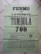 E666-MARCHE-FERMO-TOMBOLA 1885