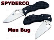Spyderco ManBug Plain Edge Folding Pocket Knife MBKP **NEW**