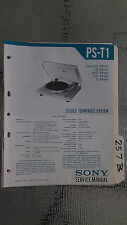 Sony ps-t1 service manual original repair book stereo turntable record player