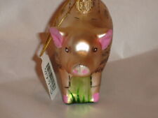 Sur La Table Glass Pig Pork Animal Ornament Made In Poland