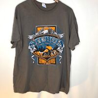 Sturgis 75th Anniversary 2015 Black Hills Rally T-Shirt Gray Motorcycle Size XL