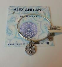 Alex and Ani SNOWFLAKE Bangle Bracelet NWT 2016 Silver Charm Mom Sister Daughter