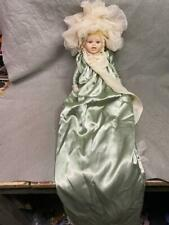 """Vintage 13"""" Doll Marked """"8013"""" Bisque Head, Hands & Feet Satin Outfit 35"""" Long"""
