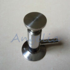 "1/2"" Tri Clamp Sanitary Sampling Valve 50.5mm OD 304 Stainless Steel PTFE Seal"