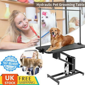 Large Dog Pet Grooming Arm Table Hydraulic Z-Lift Height Adjustable Heavy Duty