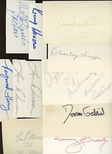 LOT (13) Football Signed Index Cards AUTO Autograph #2