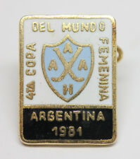 ARGENTINA 1981 WOMEN'S HOCKEY WORLD CUP Vintage Enamel Pin Badge