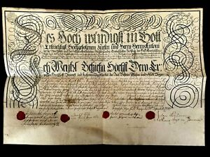 1774 HUNTING LICENSE issued to Anton Peter Příchovský (Archbishop of Prague)