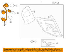 TOYOTA OEM Yaris Taillight Tail Light Lamp Rear-Socket & Wire Right 8155552820