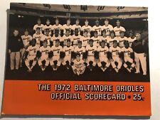 1972 BALTIMORE ORIOLES vs DETROIT Tigers BROOKS ROBINSON Scored 2 Tickets BOOG