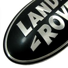 Range Rover Evoque BLACK+SILVER oval front grille badge upgrade kit genuine