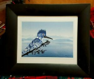 MAJESTIC By Andy Everson Matted Alaska Native American Influence Matted & Framed