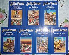 Lote 7 Libros Julio Verne: 48, 49 , 50, 51, 53, 54, 67 COLECCION ORBIS 1986-1987