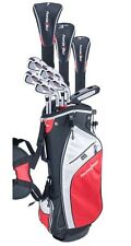 MEN'S TALL LEFT HAND POWERBILT GOLF CLUB SET 460 DR+3 WD+HY+6-PW IRONS+BAG+PUTT