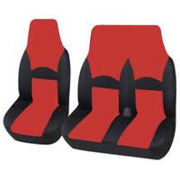 CITROEN DISPATCH TEST - DELUXE BLACK/RED VAN SEAT COVERS SINGLE + DOUBLE