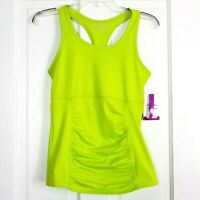Soybu Womens Athletic Tank Top Small Green Racerback Scoop Neck Breathable Yoga