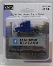 Kato N Blue Highway Tractor Trailer w/ 40' Container and Chassis KAT31617