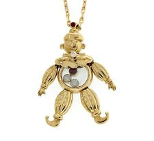 Chopard 18K Yellow Gold Happy Diamond Clown Pendant Necklace