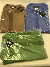 Botany 500 Men's Short Sleeve Polo Shirt size XL Polyester Blue Green
