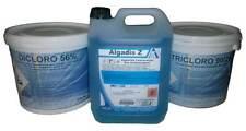kg 5 Tris prodotti piscina piscine pulizia acqua cloro antialghe pastiglie 200gr