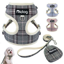 Small Dog Harness &Lead&Treat Bag Breathable Mesh Walking Vest for Pet Puppy Cat
