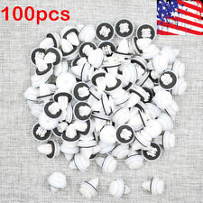 100 x 9mm White Hole Car Plastic Rivet Door Trim Retainer Clip for Honda Mitsubi
