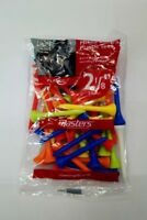 "Masters Mixed Long Plastic Tees. 2 1/8"". 40 Tees. NEW (T1)"