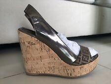 Fendi Women's Size 38 1/2 Cork Wedges