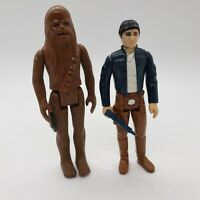 Vintage 1980 STAR WARS Chewbacca and HAN SOLO Bespin with Vintage Blaster