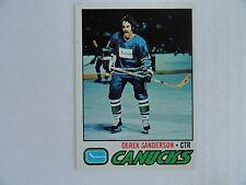 Derek Sanderson 1977/78 Topps NEAR MINT Vancouver Canucks