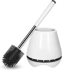 Toilet Brush & Holder Silicone Toilet Bowl Brush Bathroom Cleaning Bowl Kit