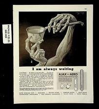 1943 Ajax & Aero Sanitary Drinking Cups Vintage Print Ad 20033