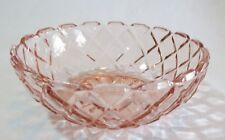 """Anchor Hocking Waterford Waffle Pink 4 ¾"""" Individual Berry Bowl(s)"""