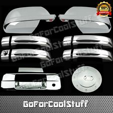 For 07-13 Toyota Tundra Mirror Full+4 Doors Handle+Tailgate+Gas Cap Chrome Cover