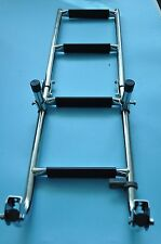 Marine Boat Foldable Stainless Steel 4 Steps Ladders Stern Mount W Rubber Grips