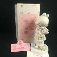 Vintage 1993 Precious Moments Figurine Enesco Loving Caring Sharing PM93