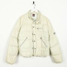 Vintage Women's DIESEL Sleeve Logo Down Filled Puffer Jacket Coat Beige | XL