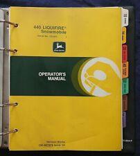 1980-82 JOHN DEERE 440 LIQUIFIRE SNOWMOBILE TECHNICAL SERVICE & OPERATOR MANUAL