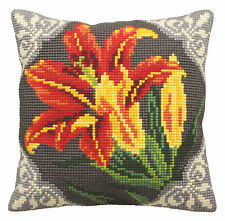 Collection D'Art Cross Stitch Cushion Kit; Orange Lily CD5123