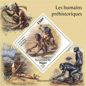 Niger 2021 MNH Prehistoric Humans Stamps Homo sapiens Archaeology 1v S/S
