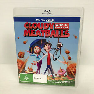 Cloudy With A Chance Of Meatballs Blu-Ray 3D Movie R4 PAL AUS/NZ