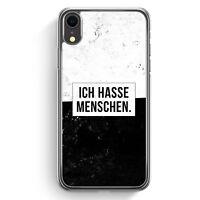 Ich hasse Menschen iPhone XR Hülle Cover Cool Witzig Lustig Spruch Zitat Grun...
