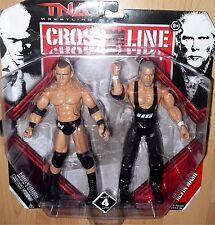 ERIC YOUNG KEVIN NASH Jakks TNA Deluxe Impact Wrestling 2 Pack Figure Toy DMG PK